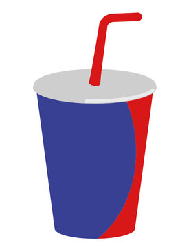 Vector image graphic of a 20oz Drinks cup with lid and straw
