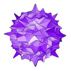 Abstract virus shape