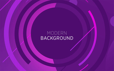 Photo sur Toile Violet modern technology purple abstract background banner with circle and line,can be used in cover design, poster, flyer, book design, website backgrounds or advertising. vector illustration.