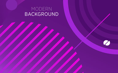 Canvas Prints Violet modern technology purple abstract background banner with circle and line,can be used in cover design, poster, flyer, book design, website backgrounds or advertising. vector illustration.