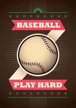 Modern baseball poster. Vector illustration.