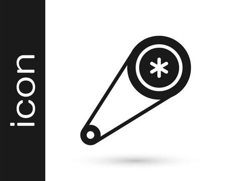 Grey Timing belt kit icon isolated on white background. Vector Illustration.