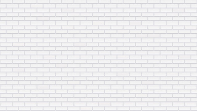 Seamless white brick wall. Detailed texture. Interior template with whitewashed bricks. Light gray repeated building surface. Modern loft style. Realistic vector wallpaper with 16:9 aspect ratio.