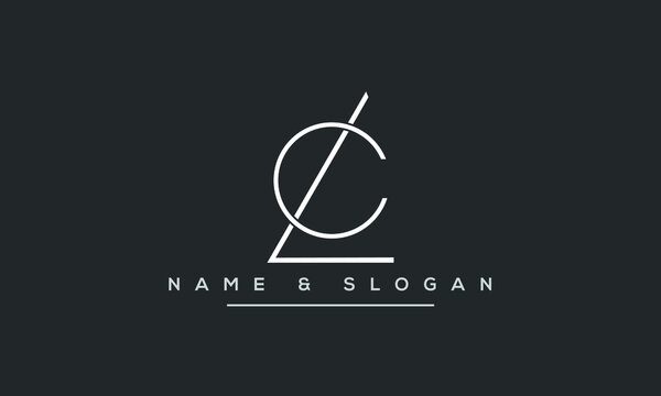LC ,CL ,L,C  Abstract Letters Logo Monogram