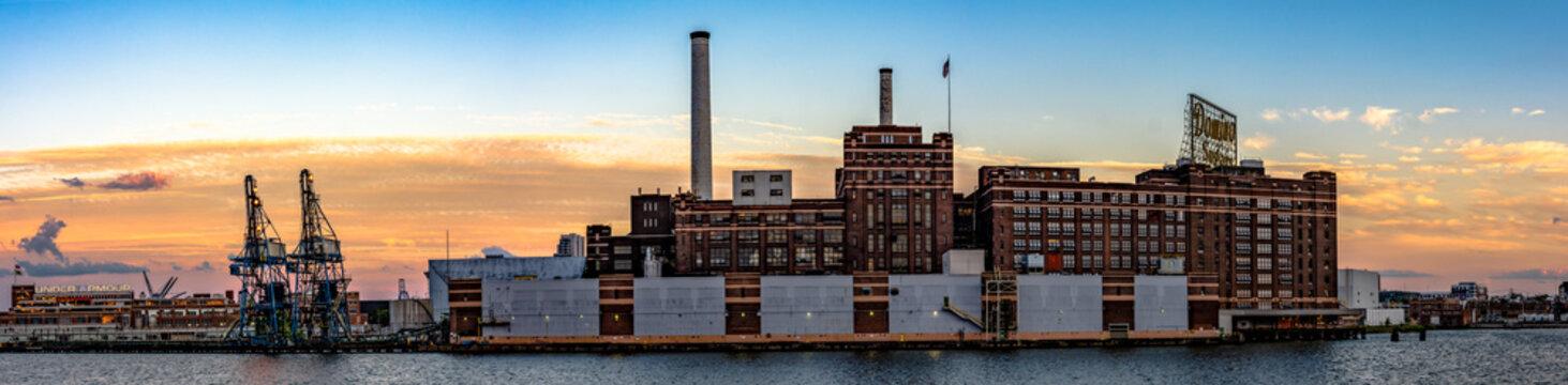 Panorama of Domino Sugar Plant