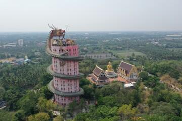 Wall Murals Place of worship Wat Samphran temple in Nakhon Pathom Thailand