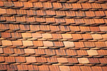 Fototapeta Roof structure. Carp tile. obraz
