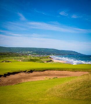 golf course in Nova Scotia overlooking the Atlantic Ocean