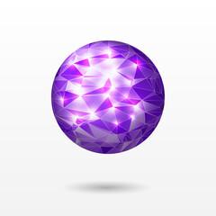 Bright polygonal sphere
