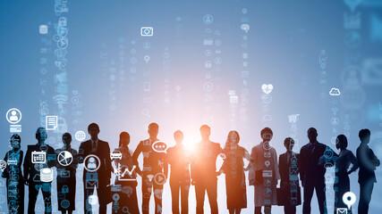 人とテクノロジー Fotobehang