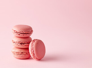 stack of pink macaroons
