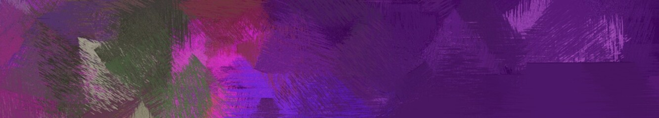Photo sur Plexiglas Violet wide landscape graphic with artistic brush strokes background with very dark magenta, dark orchid and gray gray