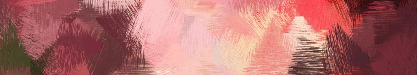 wide landscape graphic with colorful brush strokes background with dark moderate pink, baby pink and old mauve. can be used for wallpaper, cards, poster or banner