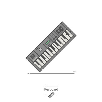 Keyboard instrument - Line color icon