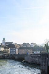 Grenzbrücke zwischen Rheinfelden (Baden) und Rheinfelden (Schweiz)