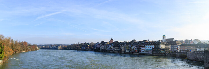 Gebäude am Rhein, Altstadt, Rheinfelden, Aargau