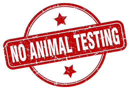 no animal testing grunge stamp. no animal testing round vintage stamp
