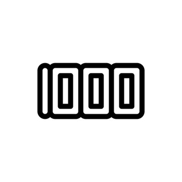 Number 1000 icon design on white background