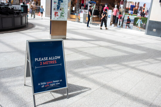 Oxford, Oxfordshire, United Kingdom,15 June 2020: Shops and stores are back open re-open in the UK as coronavirus covid restrictions are lifted 2m social distance
