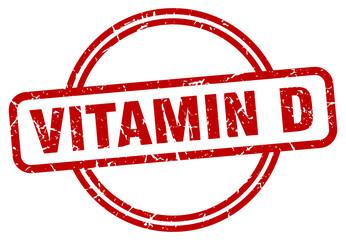 vitamin d grunge stamp. vitamin d round vintage stamp