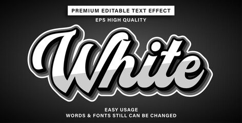 Wall Mural - Editable text effect white