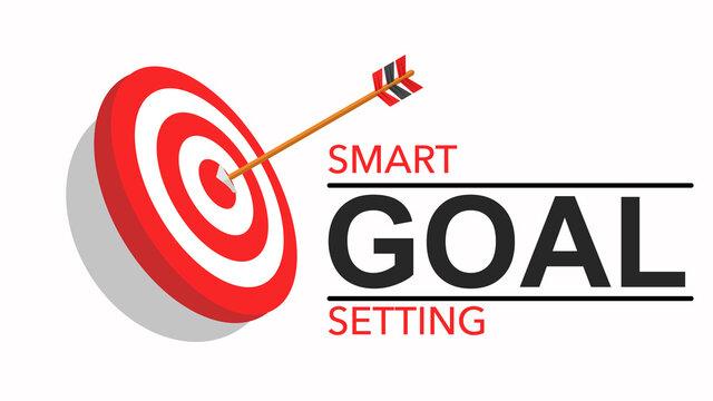 Vector Smart goal setting template