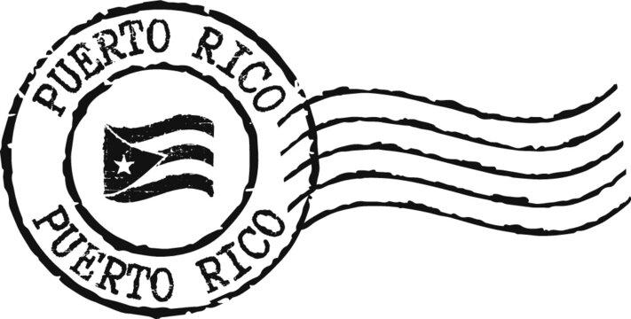 Black grunge stamp ''Puerto Rico''