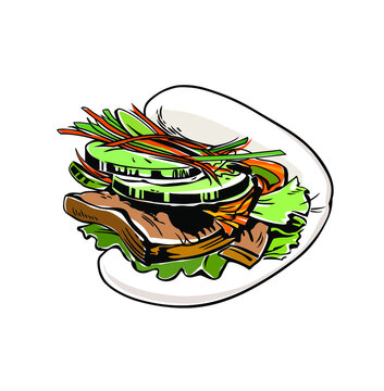 Gua bao, Steamed buns, Chinese food, Chinese Gua bao