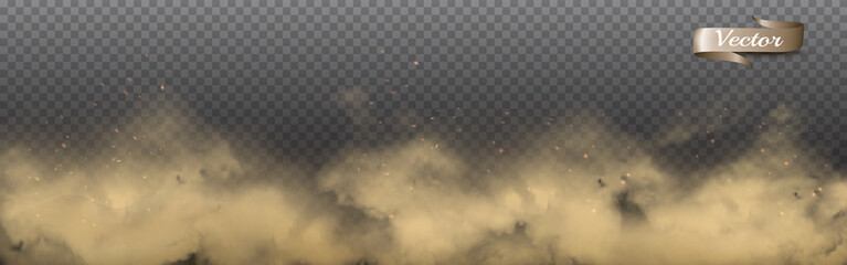 Transparent dust clouds with dirt. Vector