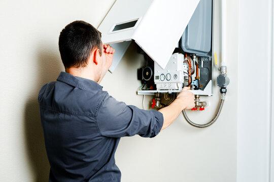 Repair of a gas boiler