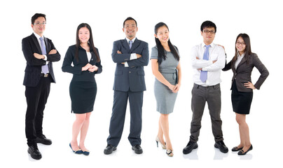 Group of Asian business people
