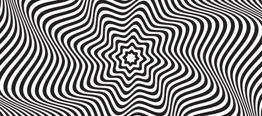 Fototapeta Opt illusion background. Optical illusion banner obraz