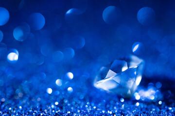 Closeup of blue diamond stone