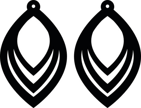 earrings svg vector cutfile for cricut and silhouette