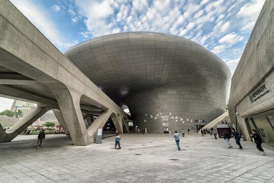 Beautiful view of the Dongdaemun Design Plaza, South Korea