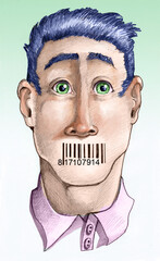 barcode censors human expression