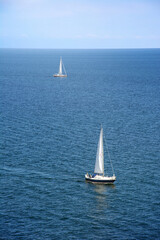 Two sailing boats on the baltic sea.