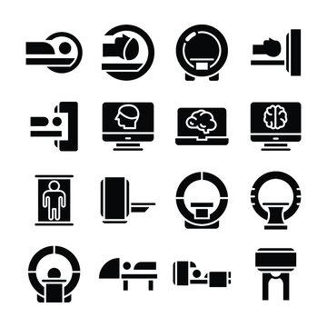 MRI Glyphs Vector Icons Set