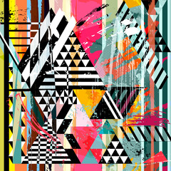 abstract background, with triangles, strokes, splashes and stripes