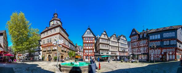 Rathaus, Markt, Herborn, Deutschland  Fotobehang