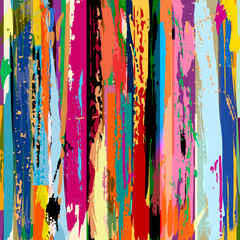 abstract background, composition with stripes, strokes and splashes