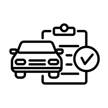 Car Service line flat vector icon for mobile application, button and website design. Illustration isolated on white background. EPS 10 design, logo, app, infographic.