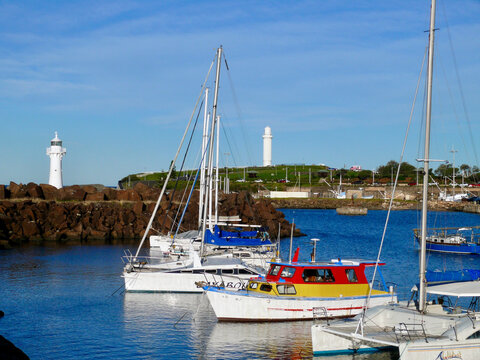 A view of Wollongong Harbor in Australia