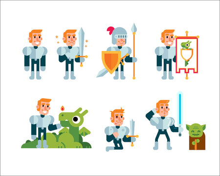 Fantasy Fairy Tale Clipart Knight mascot