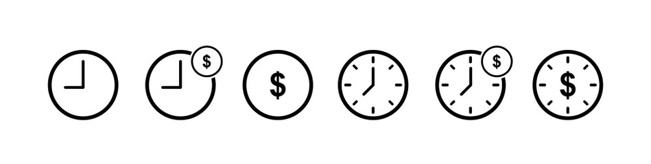 Time is money icon. Business and finance management icon .Time is money , business and finance . Vector illustration