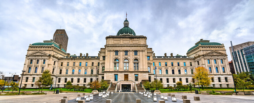 The Indiana Statehouse in Indianapolis