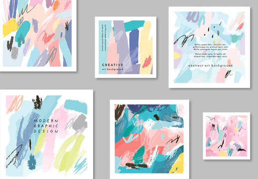 Set of Poster Layouts with Strokes