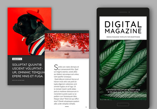 Digital Magazine Layout for Smartphone