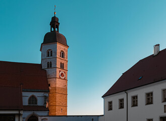 Beautiful church during sunset at Bogenberg, Danube, Bavaria, Germany