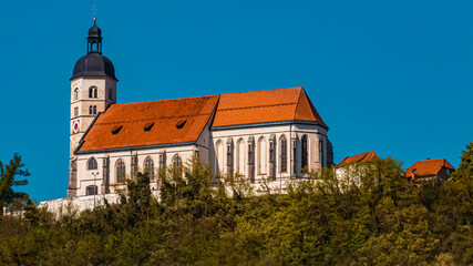 Beautiful church at Bogenberg, Danube, Bavaria, Germany